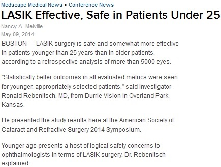 Nothing Wrong with Undergoing Youth Treatment for LASIK in Durham, NC